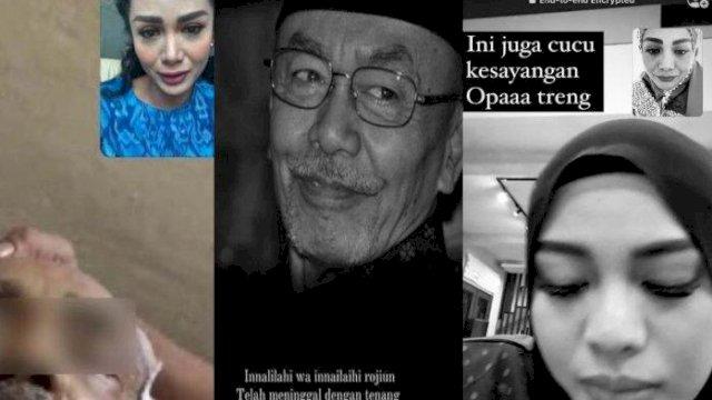 Sambil Menangis, Krisdayanti dan Yuni Shara Iringi Proses Pemakaman Sang Ayah Lewat Video Call