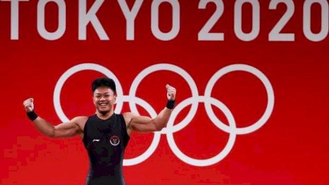 Mantap, Rahmat Erwin Abdullah Lifter Asal Makassar Ukir Rekor di Olimpiade Tokyo 2020