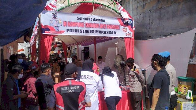 Polisi Siapkan 50 Dosis Vaksin untuk Kampung Narkoba di Kota Makassar
