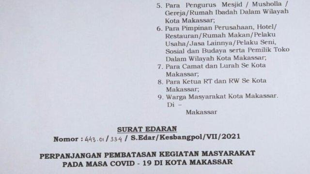 DPRD Makassar Pertanyakan Kebijakan Pemkot Soal PPKM