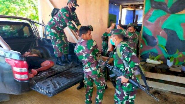 Jenazah 4 Anggota TNI yang Ditembak KKB di Papua Barat Dievakuasi ke Sorong