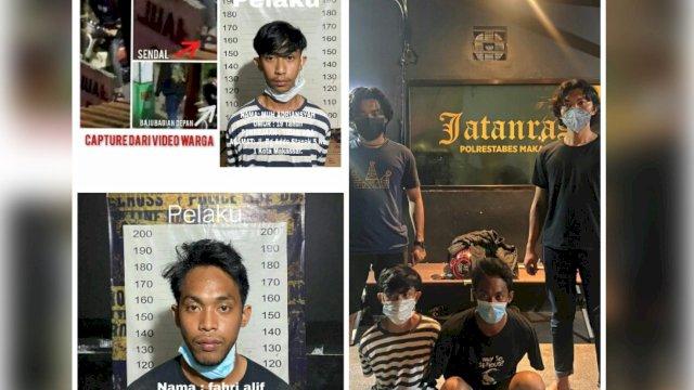 2 Anggota Geng Motor di Makassar Ditangkap Usai Serang Warga Saat Dihentikan Balap Liar