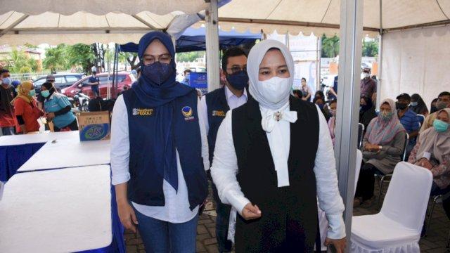Antusias Warga Makassar Vaksinasi Bareng NasDem