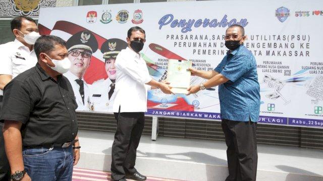 Pemkot Makassar Terima Penyerahan PSU Perumahan dari Pengembang