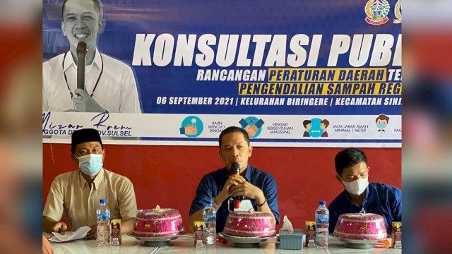 Anggota DPRD Sulsel dari Fraksi NasDem Mizar Roem Konsultasi Publik Ranperda Pengendalian Sampah Regional