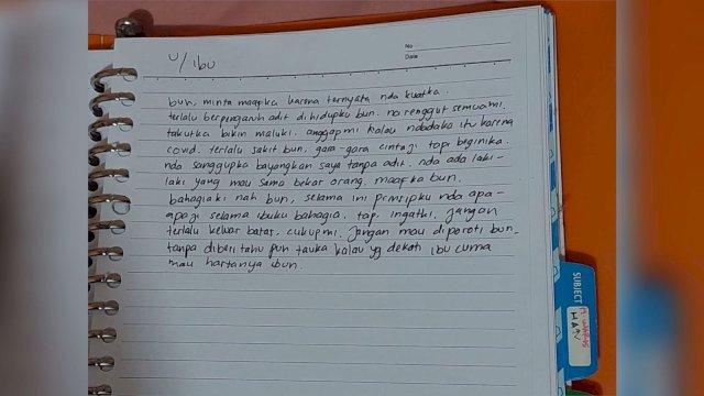 Sepucuk Surat Ditemukan Dekat Jasad Mahasiswi Unhas yang Tewas Tergantung Diselidiki Polisi