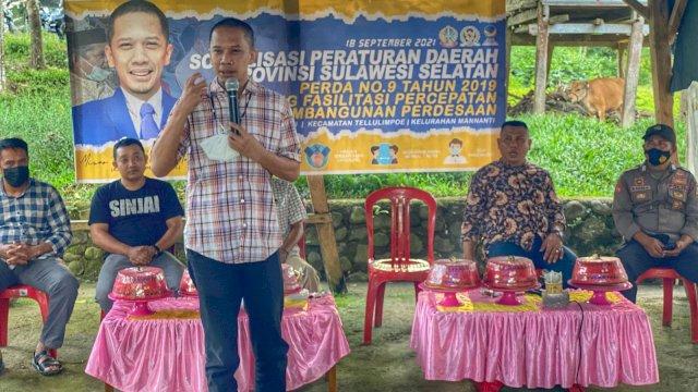 Legislator NasDem Mizar Roem Duduk Bersama Warga Sinjai Bahas Percepatan Pembangunan Desa