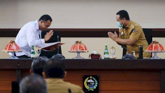 Duduk Bareng Dirkrimsus Polda, Plt Gubernur Sulsel Dukung Buat Aplikasi Pengaduan Tipikor