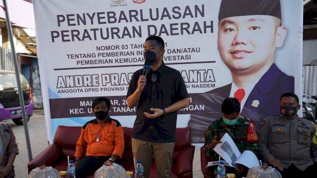 Legislator NasDem Sulsel Andre Tanta Kupas Tuntas Perda Insentif di Depan Pelaku Usaha Kecil di Makassar