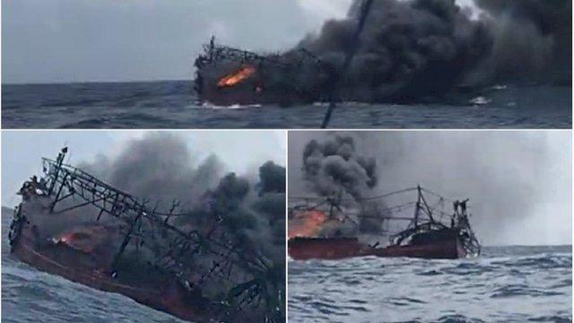 Kapal Terbakar, ABK Terombang-ambing di Tengah Perairan Maluku Tenggara