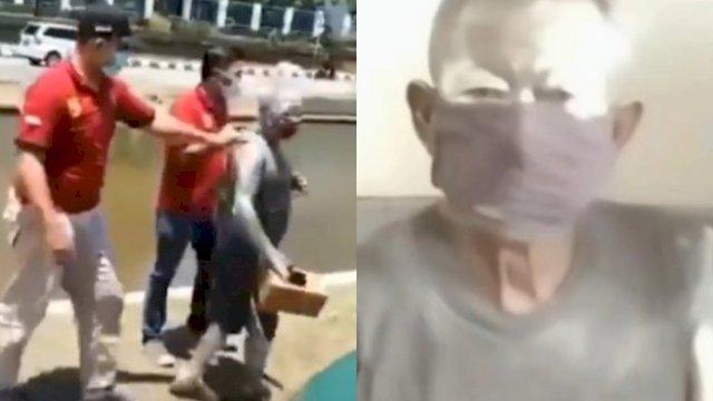 Satpol PP Tangkap Bapak Pensiunan Polri yang Jadi Manusia Silver