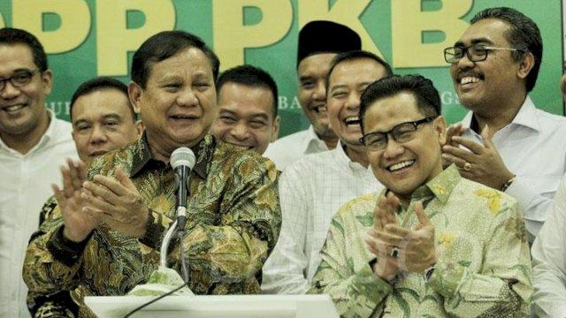 Pilpres 2024: Gerindra Dukung Prabowo, PKB Cak Imin
