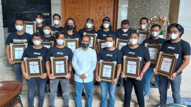 Jatanras Polrestabes Makassar Dapat Penghargaan dari Walikota Danny Pomanto
